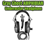 Gray Ghost Amphibian Headphones - Garrett