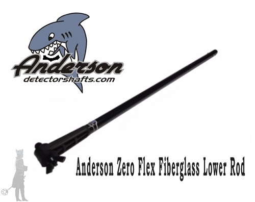 "Zero Flex Fiberglass Lower Rod 24"" Fisher/Teknetics"