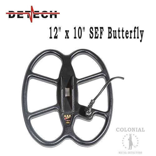 "Detech 12 x 10"" SEF Butterfly Coil - Teknetics G2+, Fisher Gold Bug/Pro"
