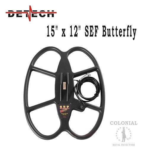 "Detech 15 x 12"" SEF Butterfly Coil - Fisher F75, F70, Teknetics Patriot"