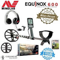 Minelab Equinox 600 Metal Detector - 15% Military Discount