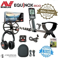 Minelab Equinox 800 Metal Detector - 15% Military Discount