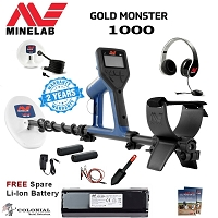 Minelab Gold Monster 1000 Metal Detector - Free Spare Li-Ion Battery