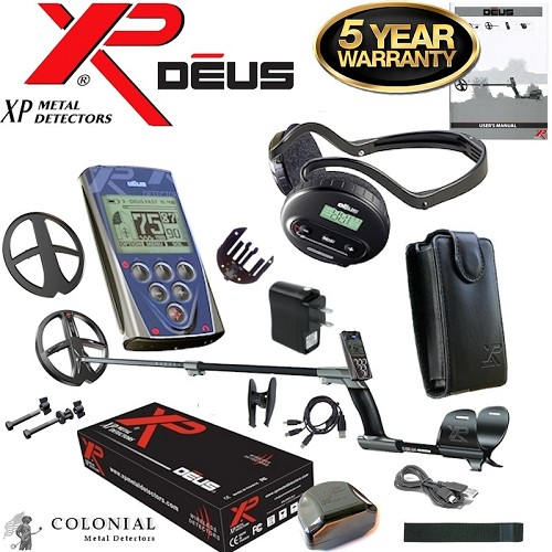 "XP Deus Metal Detector w/  11"" X35 Search Coil, Remote and WS4 Headphones"