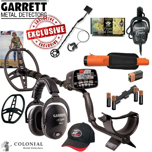 Garrett AT MAX with Free Z-Lynk Pinpoiter and Free Pirate Metal Detector